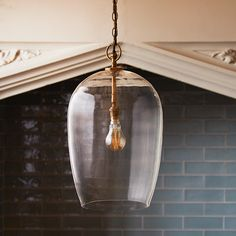 Priscilla - one of the great shapes - perfectly cylindrical at the top, and then tapering gently away. We have also carefully considered the hanging ring on the top. Each tiny detail combines to make this a classic. Beaded Chandelier, Chandelier Pendant Lights, Lantern Pendant, Pendant Lamp, Ceiling Pendant, Blown Glass Pendant Light, Glass Pendants, Pooky Lighting, Contemporary Light Fixtures