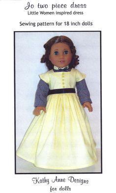 PDF  Little Women Jo dress sewing pattern for by KathyAnneDesigns