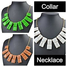 HOST PICK!! Buy 2 Get 3 FREE! Collar necklace Each sold separately. Green, white, & brown available. Jewelry Necklaces