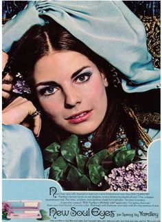 New Soul Eyes for Spring by Yardley - a 1970 ad with model Patsy Sullivan.