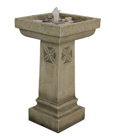 Stone Vintage Birdbath Fountain