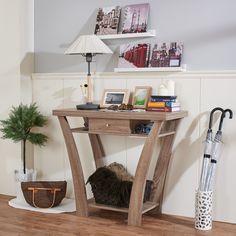 Furniture of America Difiore Modern Single Drawer Console Table, Beige & Tan