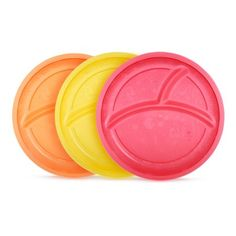 3 Ct Baby Bowls & Plates 4 Pack Munchkin Stay Put Suction Bowls