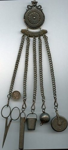 Late 1700s to Early 1800s Cut Steel Sewing Chatelaine 5 Original Pieces | eBay