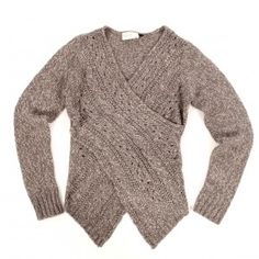 Rosslyn cross-front cable knit sweater -- must have!