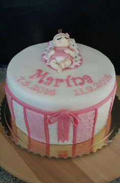 Christening cake with little baby girl for Marina.