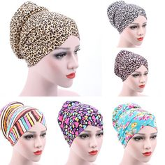 Amazing New Women Muslim Stretch Turban Hat Chemo Cap Hair Loss Head Scarf Wrap& | Clothing, Shoes & Accessories, Women's Accessories, Hats | eBay!