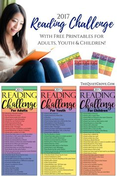 Are you looking for the BEST 2017 Reading Challenge for your whole family? Then you will loe mine (comes with FREE Printables for Adults, Youth & Kids) (Favorite List For Adults)