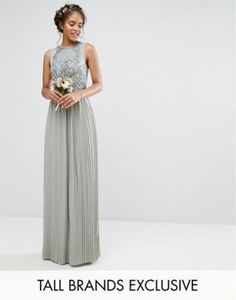 Maya Tall | Maya Tall Embellished Top Maxi Dress With Pleated Skirt