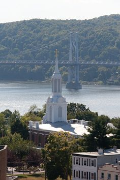 View from the Hudson River Railroad Bridge/Walkway Over the Hudson, Poughkeepsie, NY