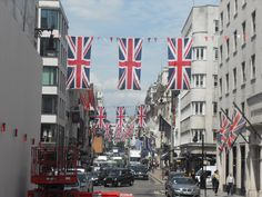 Piggotts adds British flair on Bond Street at the Queen's Jubilee in 2012 International Flags, Buy Flags, Bond Street, Banners, British, Street View, Things To Come, World, Prints