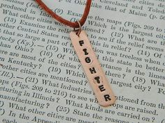 Fighter necklace Inspirational necklace affirmation copper necklace