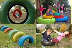 diy playground ideas   Creative Ideas For Old Tires   So Creative Things   Creative DIY ...