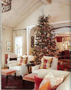 Sarah Richardson's Farmhouse.  (love the tree in the center of the room)