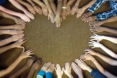 Hand heart~ LOVE this idea!
