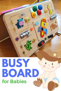 Colorful busy board for babies!
