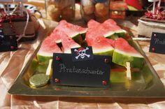 Piraten Party, pirate party, Wassermelone, melone, watermelon, Food Design, Essen Dekoration