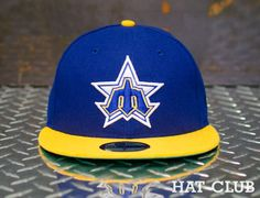 56935a25528 Custom Seattle Mariners Fitted Cap 59Fifty Fitted Cap by NEW ERA   HAT CLUB  Fitted Baseball
