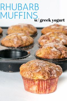 A go-to muffin recipe packed full of fresh rhubarb. You will want to save this one for rhubarb season – Rhubarb Muffins with Greek Yogurt. Muffin Recipes, Breakfast Recipes, Dessert Recipes, Breakfast Pastries, Breakfast Ideas, Yogurt Recipes, Brunch Recipes, Rhubarb Desserts, Rhubarb Rhubarb