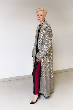 To be as cool as Tilda Swinton would be a dream come true.Love the dramatic jacket.