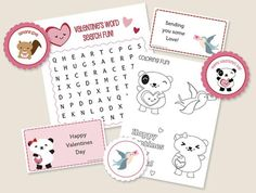 Over 90 FREE Valentine Printables For You!   How Does She...