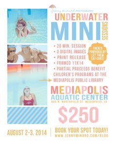 Underwater Portraits.  Underwater Mini Sessions.  Jenny Minard Photography Blog | Iowa Newborn Photographer