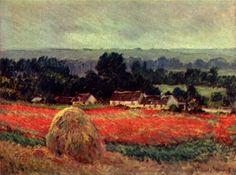 Champ de coquelicots door Claude Monet, 1885