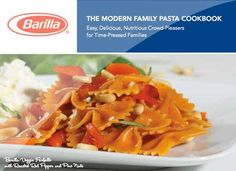 Veggie Pastas by Barilla - Veggie Farfalle with Roasted Red Pepper & Pine Nuts Served with Ricotta & Fresh Mozzarella Barilla Recipes, Yummy Pasta Recipes, Dinner Recipes Easy Quick, Healthy Recipes, Veg Recipes, Vegetarian Recipes, Pasta Cookbook, Veggie Pasta, Fresh Mozzarella