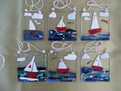 Sailing boat sun catchers