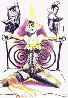 WE ♥ JEAN PAUL GAULTIER: Madonna's Blond Ambition Tour Sketches by Jean Paul Gaultier