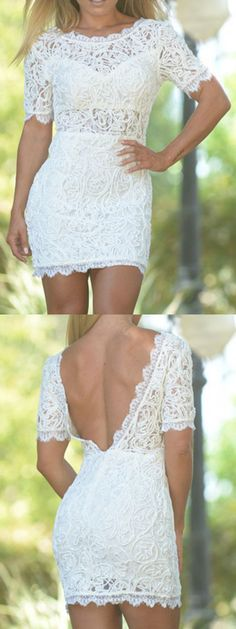 Maybe u are keeping for looking this kind of dress. Sexy backless lace dress to wear on special occasion.