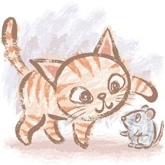 Cat and mouse by Toru Sanogawa, via Behance