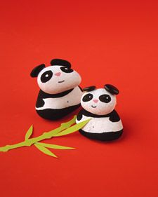 Rocks!!! I really want to do these pandas with rocks!!!