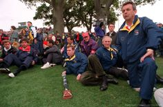 By Bob Thomas Bob Thomas Sports Photography Getty Images  Sport, Golf, The Ryder Cup, The Belfry, England, September 1993, Europe 13 v USA 15, USA's Fred Couples, HRH Prince Andrew (the Duke of York), and Tony Jacklin (right) anxiously watch the closing stages of the tournament.