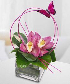 Orchid Flower Arrangements, Contemporary Flower Arrangements, Tropical Floral Arrangements, Creative Flower Arrangements, Ikebana Flower Arrangement, Flower Centerpieces, Deco Floral, Arte Floral, Mothers Day Flowers