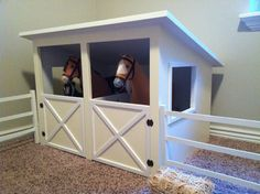 Horse Stable and Fence Plans for American Girl or by addielillian