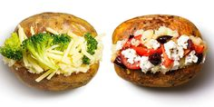 Easy and healthy additions that will transform a boring baked potato into a nutrient-packed power dish that can improve your skin and libido. Healthy Cooking, Cooking Recipes, Healthy Recipes, Healthy Food, Healthy Lunches, Jacket Potato Recipe, Potato Diet, Baked Potato, Sustainable Food