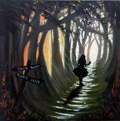 stan johnson art painted alice in wonderland fantasy painting artwork