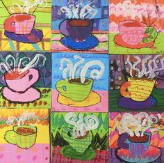 Cassie Stephens: In the Art Room: Top Ten Favorite Winter Art Lessons! Winter Art Projects, Winter Project, Projects For Kids, Diy Projects, Art 2nd Grade, Second Grade, Classe D'art, January Art, Mug Art