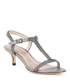 0b1e654f6ba Pelle Moda Fable Rhinestone Jeweled Metallic Suede Dress Sandals