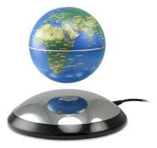 Floating Globe - This globe floating on air will fascinate and engage visitors to your home or office. The globe actually does float above the base, no wires attach...