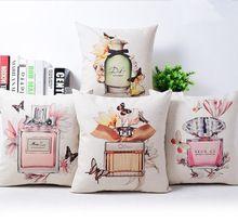 Criativo moderno Floral de linho de algodão pillow almofada para sofá funda cojines de decoração para casa 45 x 45 cm(China (Mainland))