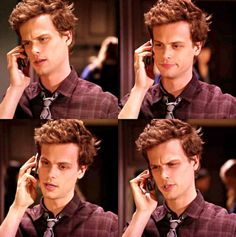 the faces of Matthew Gray Gubler while on the phone... the 4th one!! haha