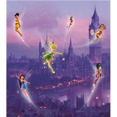 Disney - Fotomurales Infantiles de Disney, Fairies in London