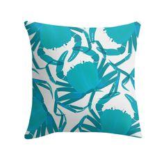"""Crab Crib"" Cushion http://www.redbubble.com/people/angeflange/works/15048061-crab-crib?p=throw-pillow"