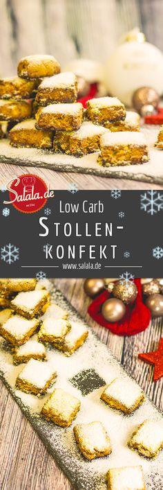 Low Carb Stollenkonfekt - by salala.de - Mehlfrei Zuckerfrei Weihnachten Weihnachtsgebäck Stollen Backen ohne Mehl Backen ohne Zucker Weihnachtsbäckerei