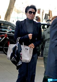 Janet's purse's name is Birkin, Ms. Bag if your nasty. Click for a full gallery of Celebs who work a Birkin.