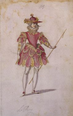 Louis XIII in a dance costume for the ballet Four Seasons.