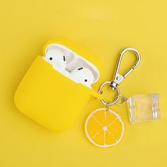 Summer Ice Cubes Lemon Decor Silicone Case for Apple Airpods Accessories Bluetooth Earphone Box Protective Cover Batterie Iphone, Cute Ipod Cases, Airpods Apple, Accessoires Iphone, Accesorios Casual, Airpod Case, Iphone Accessories, Apple Products, Make Up