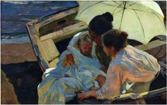 After the Bath - Joaquín Sorolla - Completion Date: 1902